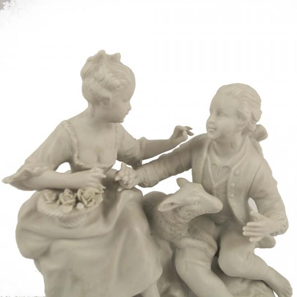 Figurka biskwit Unterweissbach couple