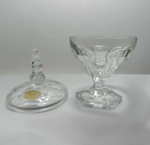 Kryształowa bomboniera Val St. Lambert Belgia lid