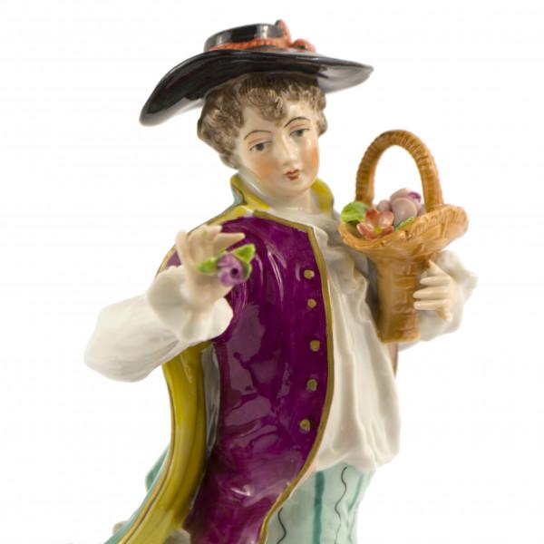 Chłopiec z koszem Sitzendorf head