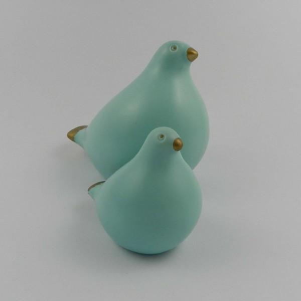 2 ceramiczne figurki - gołębie
