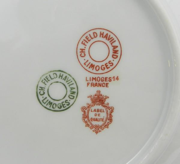 Zestaw deserowy Limoges Haviland mark