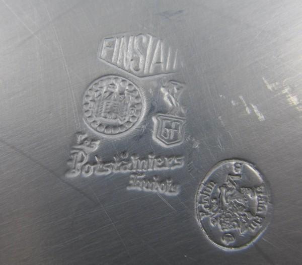 Duża cynowa patera Finstain Potstainiers Belgia mark
