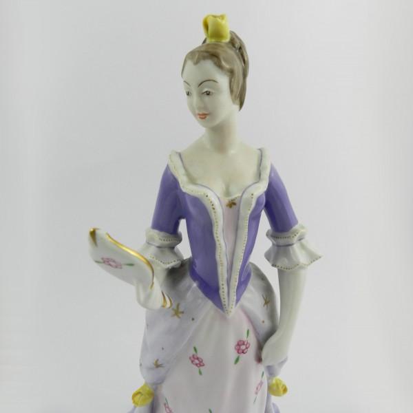 Figurka Hollohaza dama z lusterkiem up