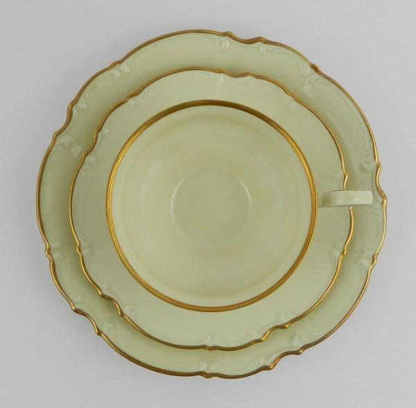 Serwis 10 osób Hutschenreuther Sylvia Ecru Gold cup up