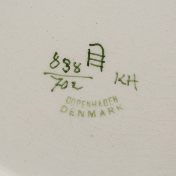 Duży talerz dekoracyjny Royal Copenhagen Aluminia mark