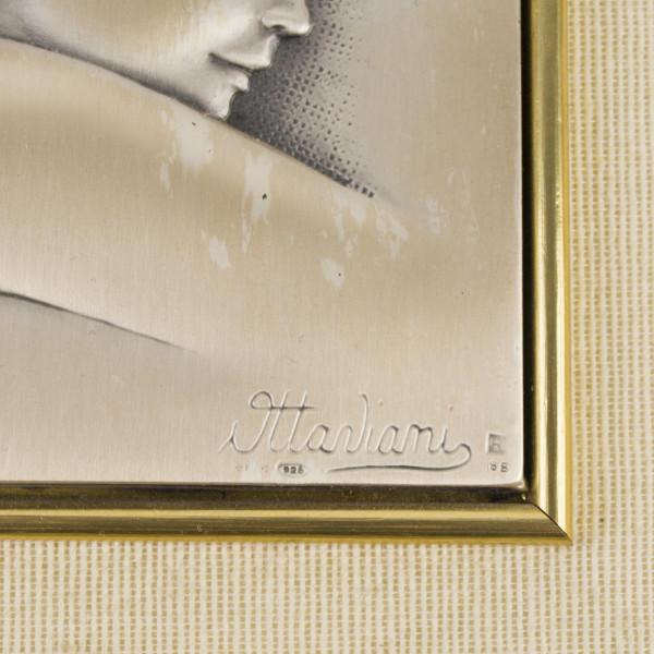 Srebrny obrazek Matka Boska sign