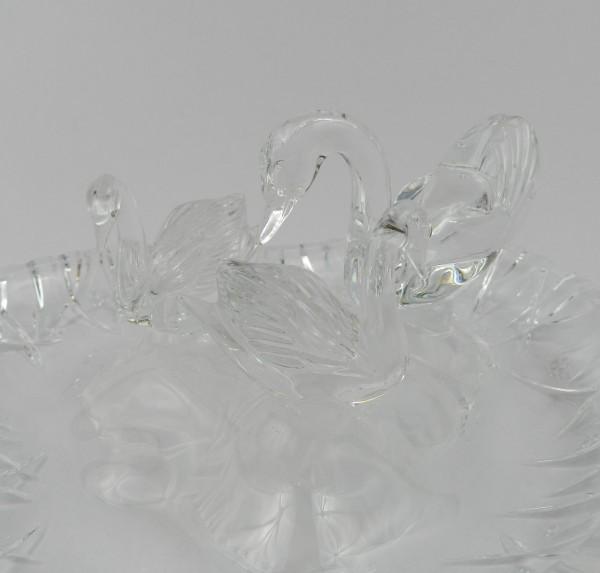 Paterka szklana łabędzie figury