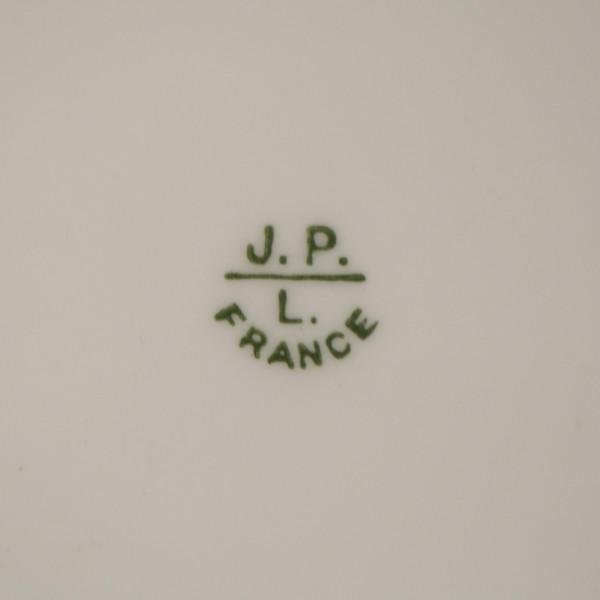 Talerz dekoracyjny Jean Pouyat Limoges mark