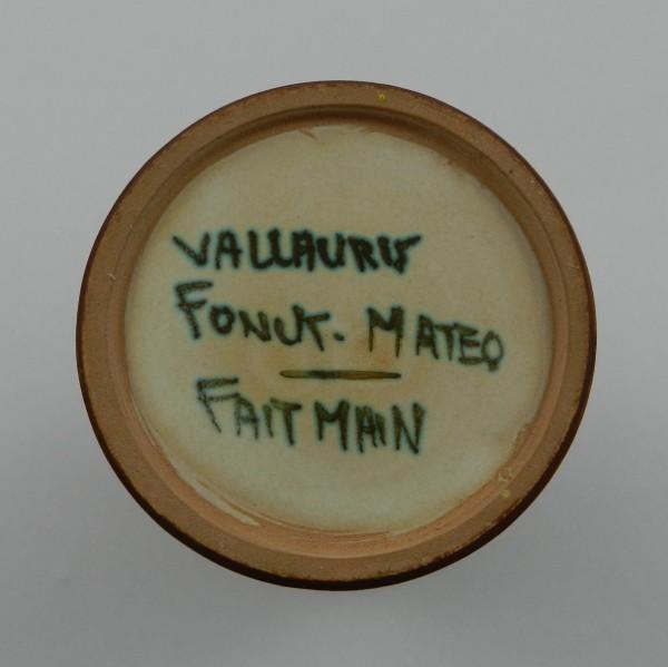 Wazon Fonck&Mateo Vallauris mark