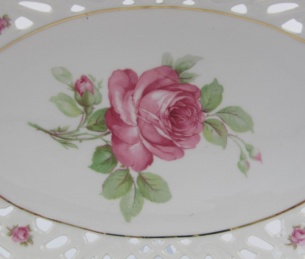 Ażurowa patera Schumann rose