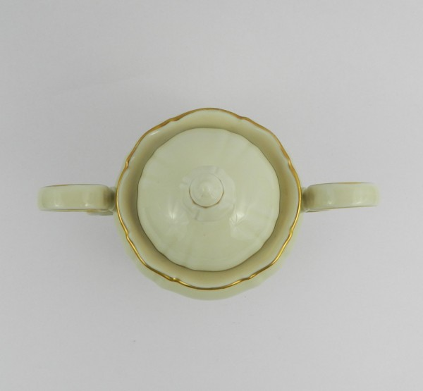Serwis 10 osób Hutschenreuther Sylvia Ecru Gold sugar bowl up