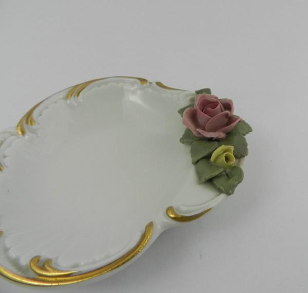 Świecznik i paterka Drezno rose