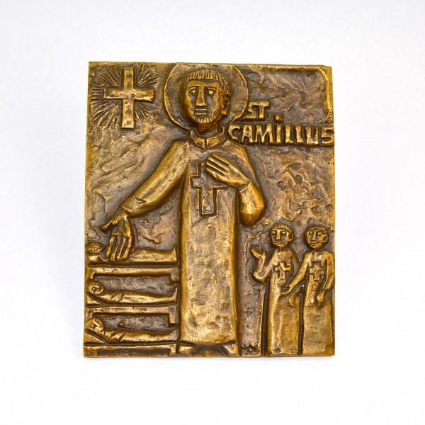 Plakieta z brązu St. Camillus