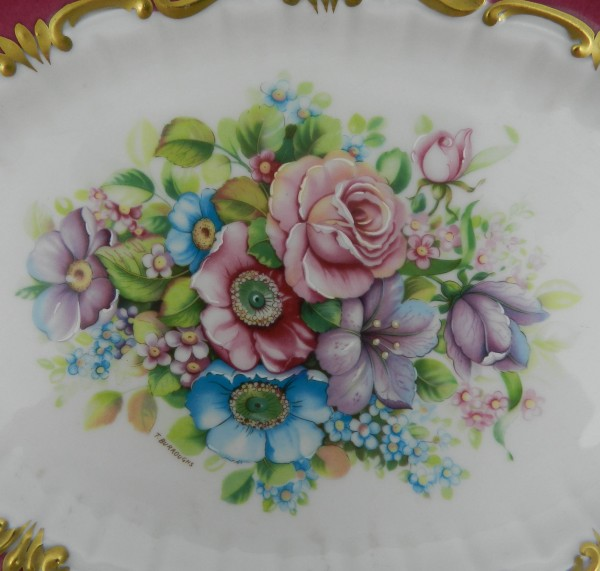 Patera Limoges flowers