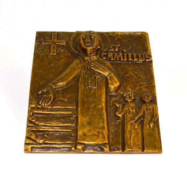 Plakieta z brązu St. Camillus 2